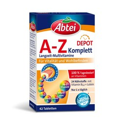 Abtei A-Z Komplett Multivitamin Plus Tabletten Packung – 42 Tabletten
